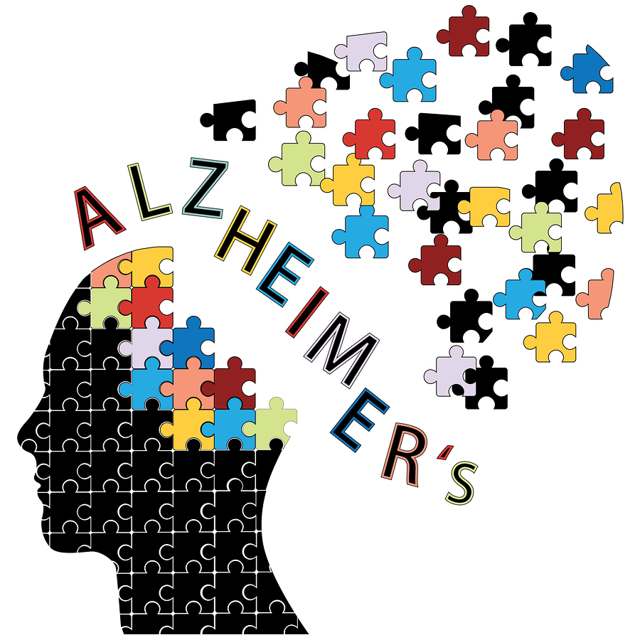 Puzzle head Alzheimer's disease concept vector illustration